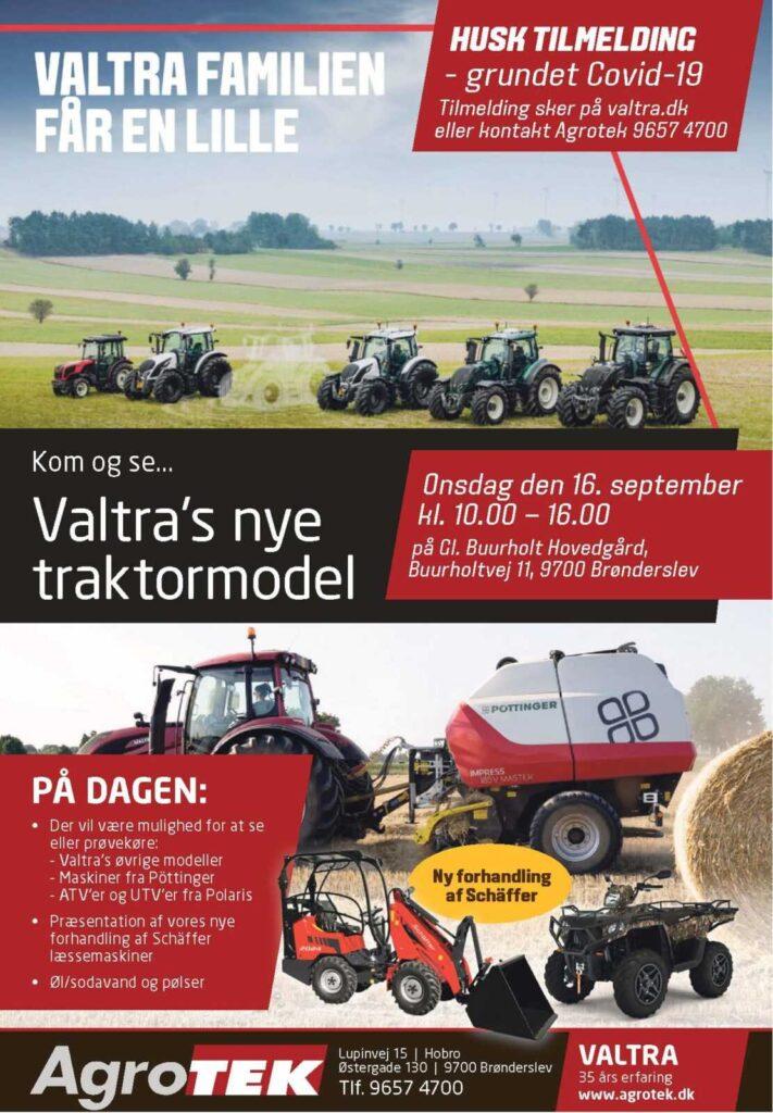 AgroTek valtras nye traktormodel med tilmelding